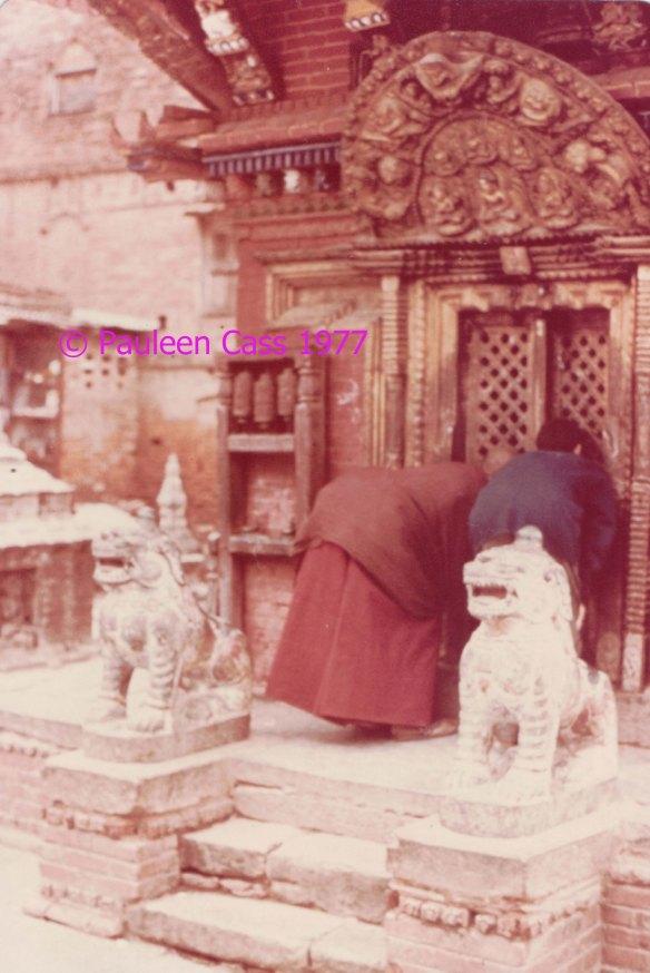 Kathmandu monks 1977 edit